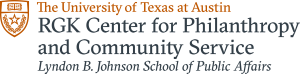 University of Texas at Austin RGK Center for Philanthropy & Community Service LBJ School of Public Affairs logo