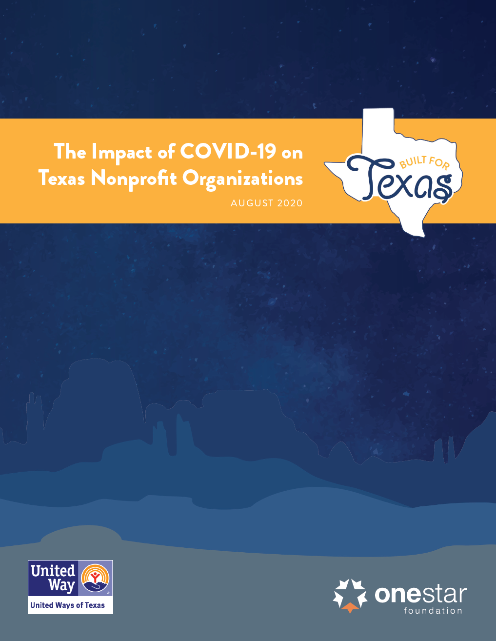 Report cover of The Impact of COVID-19 on Texas Nonprofit Organizations